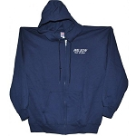 HANES Hoodie Full Zip Logo Front Left Chest